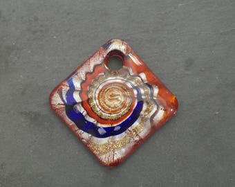 50 mm Lampwork Murano glass pendant