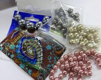 Verre Pendant plus correspondant perles Swarovski - extrêmement intéressant verre pendentif - correspondance des perles pour collier Unique