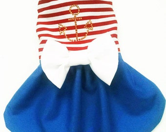 Dog Dresses:  Dog Clothes Nautical Sailor Dress for your Yorkie, Chihuahua, Pom, pekinese