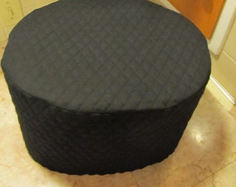 Black Oval Crock Pot Covers for 6 Quart Slow Cookers Quilted Fabric Small Appliance Covers Made To Order