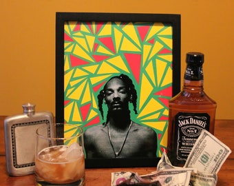 Snoop Dogg Collage Print