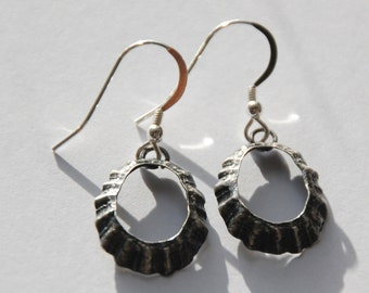 Porthmeor St Ives Oxidised Limpet Drop Earrings *NEW*