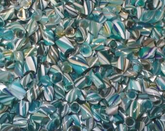 Seafoam - Handmade WHIRLWIND Murrini - 104 coe Glass - Katie Gee - SRA
