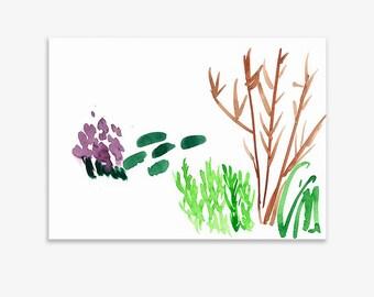 Unrecognisable Parts Of Our Garden 8, print on fine art paper