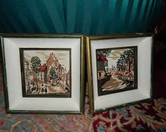 HAND PAINTED TILES Signed Duze