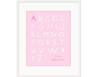 Personalized Alphabet Print