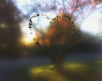 Heart on window digital download stock image free use