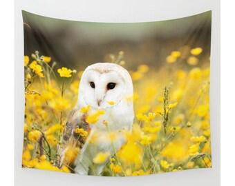 Wall Tapestry, Owl Tapestry, Wall Hanging, Australian Barn Owl, Tyto Alba, Wanderlust, Bohemian Decor, Wall Art, Modern Tapestry, Home Decor