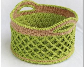 Lattice Basket (Crochet Pattern)