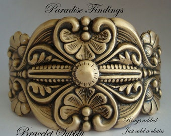 Decorative Bracelet Supply, Gorgeous Custom Brass Ox, Professional Look, Rings Metal Bonded For A Quality Jewelry Cuff Supply