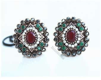 """Crystal tunnels plugs for gauged ears: 1/2"""" 9/16"""" 5/8"""" 3/4"""""""