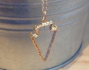 Clear glass arrowhead pendant. Boho arrowhead necklace. Bohemian. Layering piece.