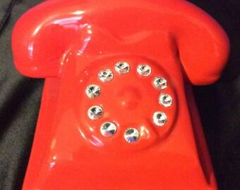 Ceramic Rotary Phone Bank