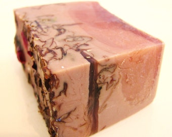 NEW Orange Rose Vegan Handmade Soap made with real oranges, roses and a hint of vanilla and nutmeg