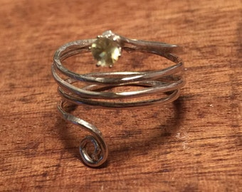 Sphene Ring- Argentium sterling- Sz 6