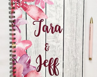 Personalized Wedding Planner book, engagement gift for bride to be, custom bridal planner, wedding checklist, appointment book, personalised
