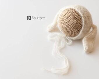 Newborn & sitter bunny bonnet | bunny ear bonnet | newborn photography prop | Newborn Prop | Photo Prop | Photography Prop
