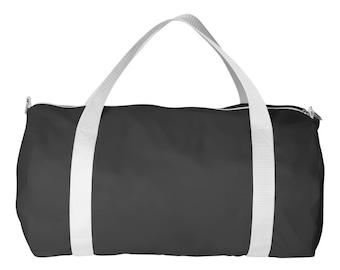 Black Nylon Sports Bag