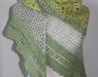 Green and Grey Shawl