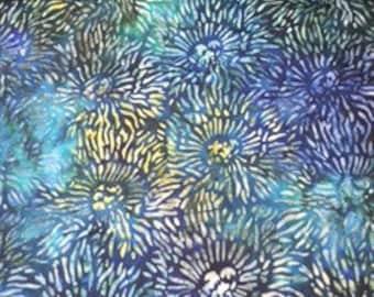 Robert Kaufman - Tigerfish - AYP-15743-78 - peacock - batik - Modern Cotton yardage - CT119024