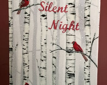 Cardinals Silent Night in the Snow