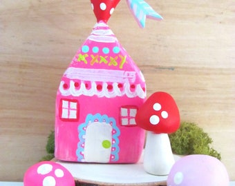 valentines gnome home ~ hot pink