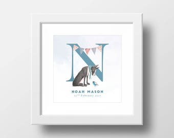 Personalised 'New Baby' Print - New Baby Gift - Christening Gift - Baby Keepsake