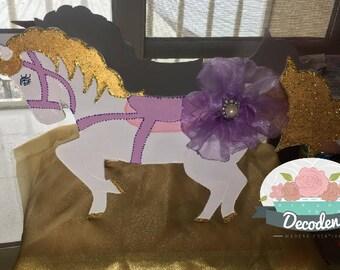 Unicorn centerpiece, horse, carousel horse, carousel unicorn,baby shower