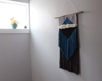 Ice Burg - a woven wall hanging