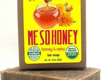 4.5oz Me So Honey: Honey & Oats Bar Soap