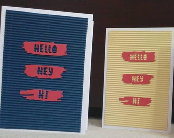 Hello card | Just a note | Thank you | Friend | Letter writing | Notelet | Just because