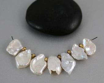 Petal Pearl Beads - Set of 6 - Petal Pearls - 15mm