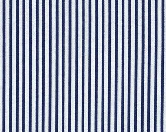 Dear Stella Fabric Dress Stripe in Navy Fabric by the Yard