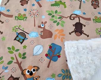 Baby Lovey, Animal Baby Shower, Jungle Animals Baby Shower, Woodland Baby Shower, Gender Neutral Lovey, Woodland Nursery, Woodland Baby Gift
