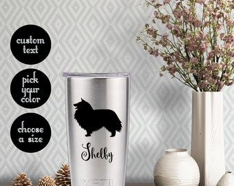 "Shetland Sheepdog ""Sheltie"" Decal with customizeable name text"