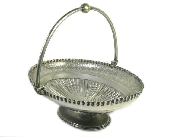 Antique Silver Plated Bowl by Walker and Hall, Sheffield