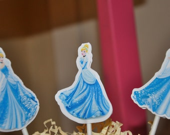 Cinderella Cupcake Toppers Cake Toppers Set of 12