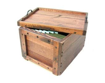 File Holder, Filing Box, File Organizer, File Cabinet, File Sorter, File Keeper, Wooden Box For Files, Hanging File Box, Filing System