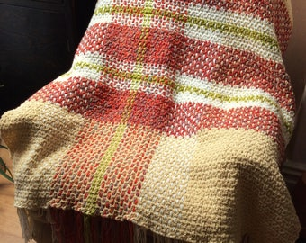 Crochet & Weave Pattern Large Plaid Throw 2