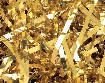 Gold Metallic Shred, Gift Basket Filler, Gift Box Packing Material, Decorative Paper