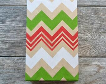 Chevron Kraft Christmas Wrapping Paper, 2 Feet x 10 Feet
