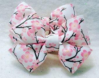Girly Cherry Blossom Bow Set