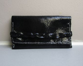 Tobacco Pouch / Black Leather Tobacco Pouch