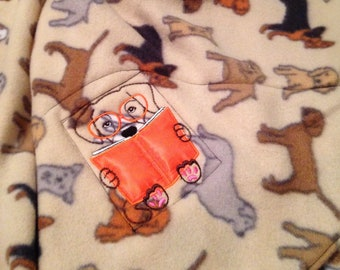Nap mat cover Childs sleep mat cover Brown orange beige puppies dogs embroidery black webbing handle sturdy back mushroom brown velvety soft