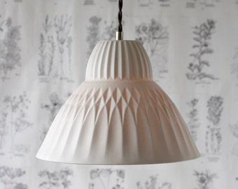 Porcelaine de Sofia pendentif lumineuse, éclairage moderne Design, porcelaine translucide éclairage