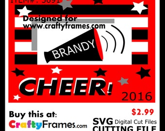 ITEM # CF-3691 - Cheer Red Black White School Spirit - SVG Cutting Machine File - Instant Download - Commercial Use - 2.99