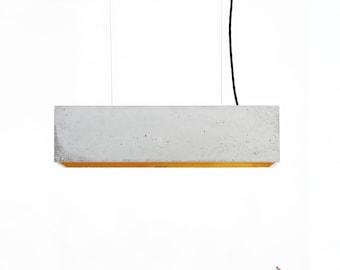 Beton Hängeleuchte [B4] Lampe minimalistisch rechteckig