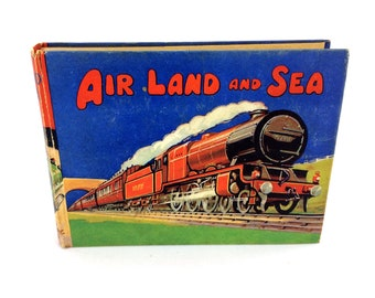Air Land And Sea Book Birns Adventure Series England Vintage 1930's Childrens