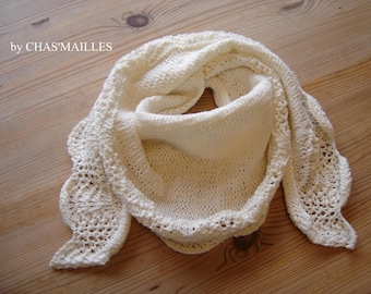 scarf/shawl or mini shawl unbleached cotton and linen