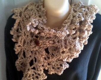 Scarves, scarf, crochet, beige, women, girls, accessories